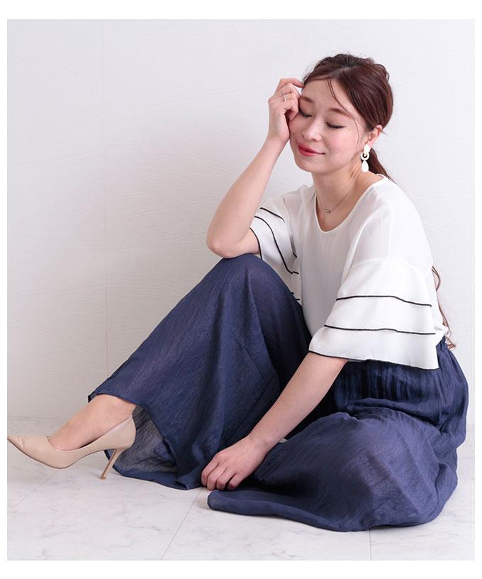 エアリーなロングワイドパンツ【5月16日8時販売新作】