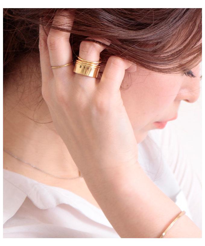 シルバー&ゴールドワイドリング【6月27日8時販売新作】