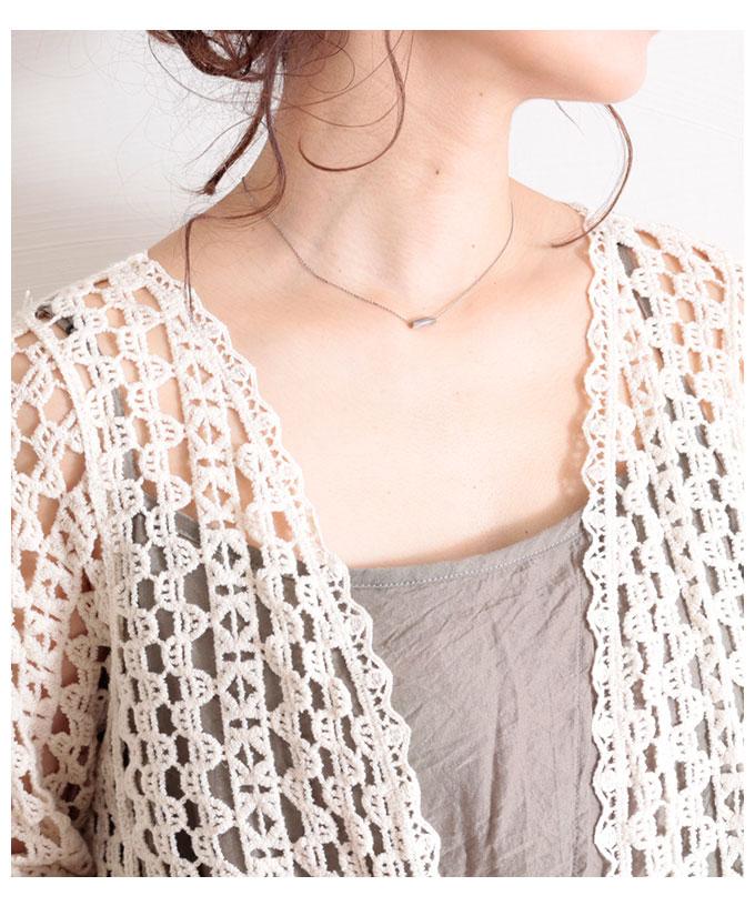 スカラップ裾の透かし編みカーディガン【7月1日8時販売新作】