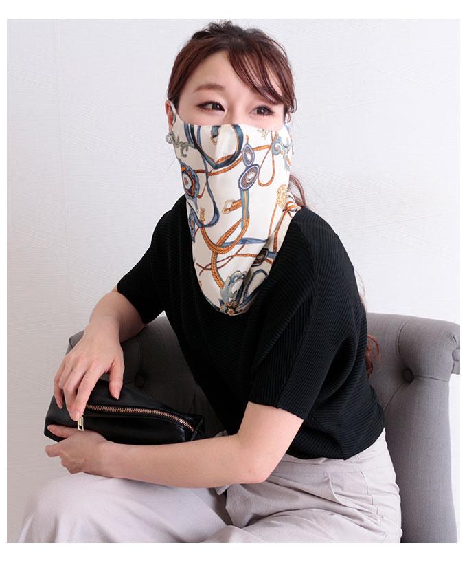 2Wayプリント柄スカーフマスク【7月25日8時販売新作】