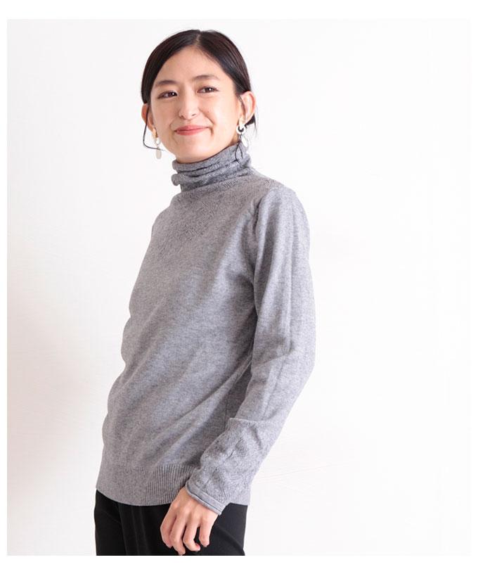 美シルエットのタートルネックニット【10月17日8時販売新作】