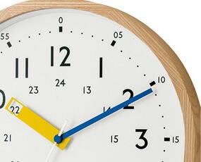 掛け時計 電波時計 知育 北欧 木製 ステップムーブメント アナログ ストゥールマン (IF-CL2937)