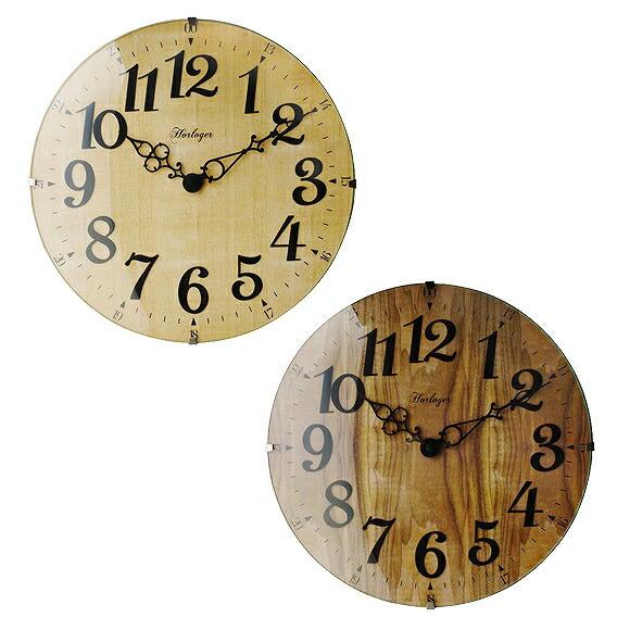 Wall clock wooden radio time signal fashion step movement North European  Rais thora(IF-CL6867)