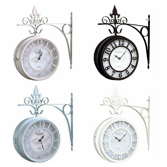 Wall clock both sides clock stylish nostalgic living NHE801 (SP-NHE801L)