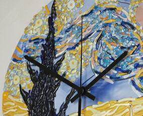 Sebino Arte ベネチアンガラス時計「ゴッホの星月夜」 (YM-AR81-34RT)