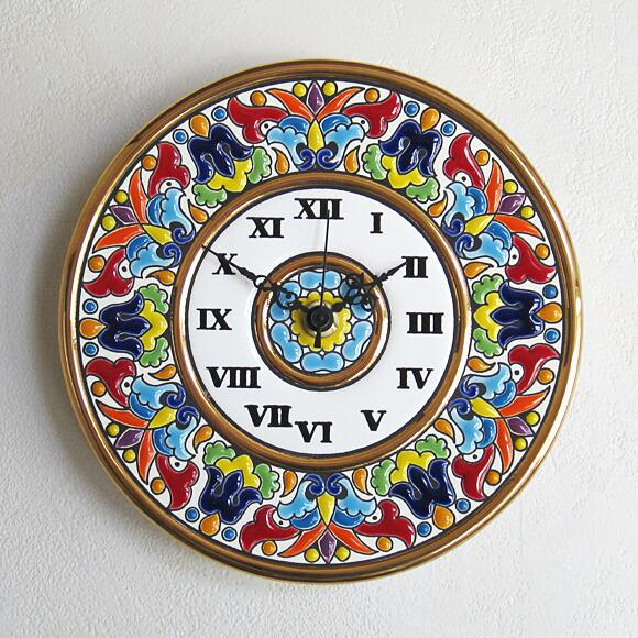セビリア陶器置き時計 69065