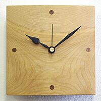 天然木クラフトクロック「R時計」、日本製