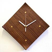天然木クラフトクロック「角皿」、日本製