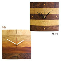 天然木クラフトクロック「寄せ木」、日本製