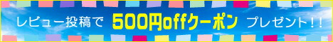 レビュー投稿で500円クーポン