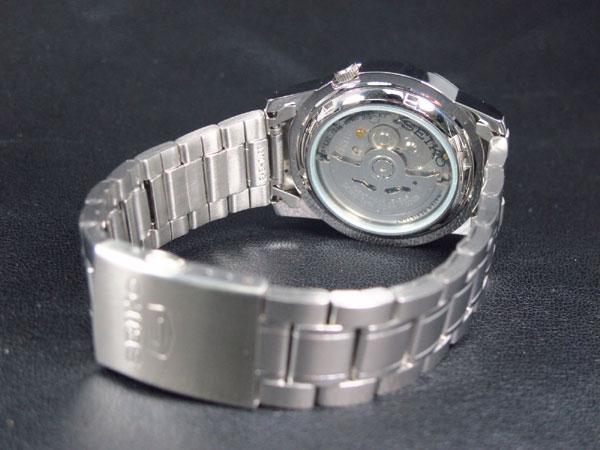 SEIKO 5 セイコー ファイブ 海外モデル 腕時計 自動巻き SNKE63K1 メンズ ブラック×シルバー メタルベルト-3