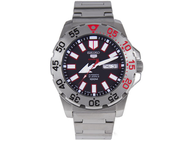 SEIKO 5 セイコー 腕時計 自動巻き 日本製 逆輸入 SRP485J1 ブラック-1