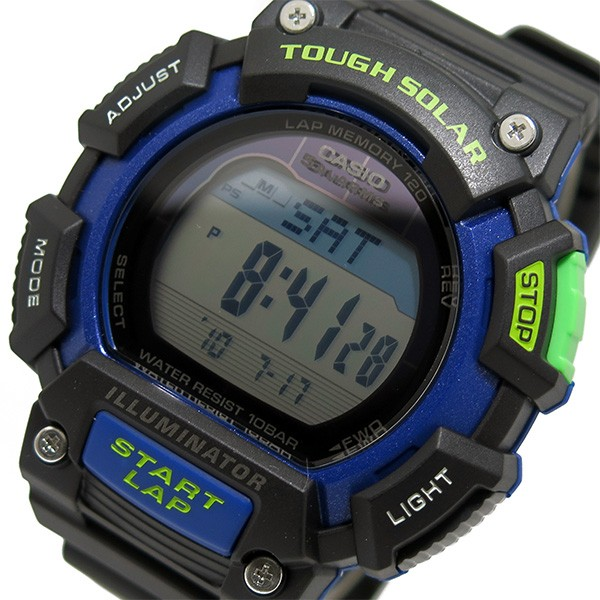 カシオ CASIO デジタルソーラー メンズ 腕時計 STL-S110H-1B ブラック/ブルー-1