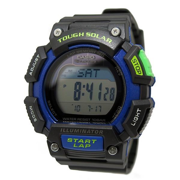 カシオ CASIO デジタルソーラー メンズ 腕時計 STL-S110H-1B ブラック/ブルー-2