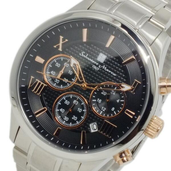 サルバトーレマーラ 腕時計 クロノグラフ メンズ SM15102-SSBKPG-1
