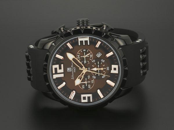 サルバトーレマーラ クロノ クオーツ メンズ 腕時計 SM15107-BKBR-2