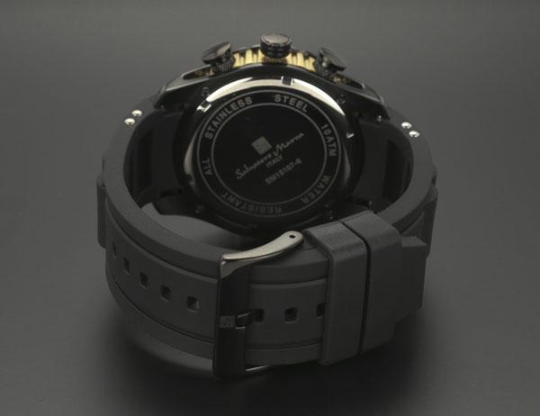 サルバトーレマーラ クロノ クオーツ メンズ 腕時計 SM15107-BKBR-3