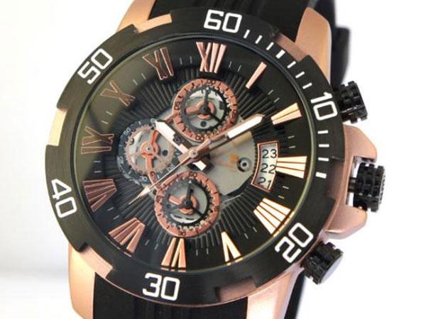 サルバトーレマーラ クロノ クオーツ メンズ 腕時計 SM15109-PGBK-1