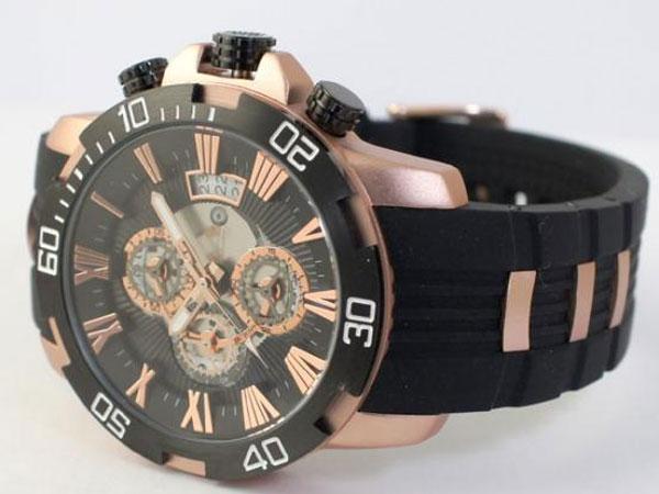 サルバトーレマーラ クロノ クオーツ メンズ 腕時計 SM15109-PGBK-2