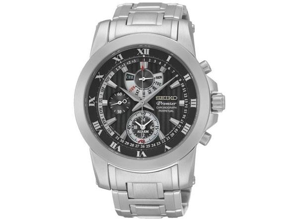 セイコー SEIKO クロノグラフ アラーム パーペチュアルカレンダー メンズ 腕時計 SPC161P1-1