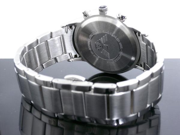 エンポリオ アルマーニ EMPORIO ARMANI 腕時計 AR2434 メンズ ブラック×シルバー メタルベルト-3
