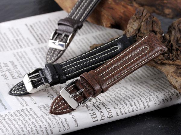 腕時計 替えベルト カーフ2ステッチ カーフ 22mm PLC2S352DBRSV-1