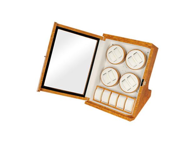 ワケアリB品 アウトレット アウトレット LUWH 8本 ウォッチワインダー ワインディングマシーン 腕時計 13本 収納 LU30008RW ウッド-2