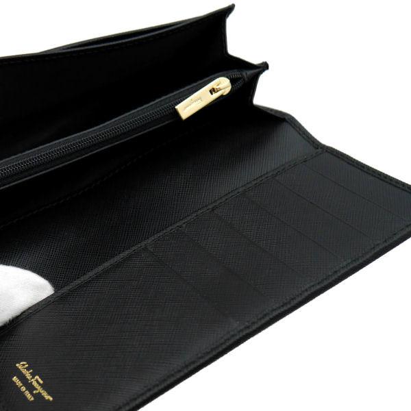 フェラガモ Ferragamo レディース 長財布 22-B559-588260 ブラック レザー-3
