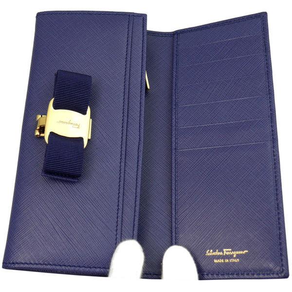 フェラガモ Ferragamo レディース 長財布 22-B559-609612 ブルー レザー-2