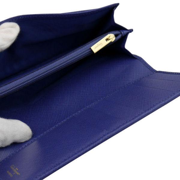 フェラガモ Ferragamo レディース 長財布 22-B559-609612 ブルー レザー-3