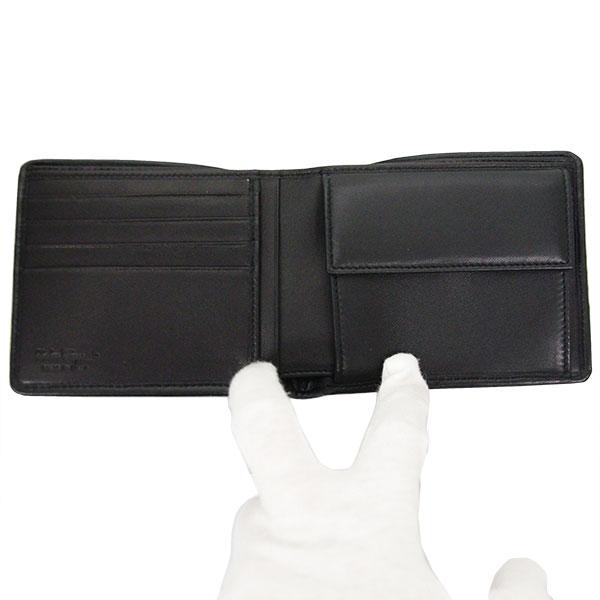フェラガモ Ferragamo メンズ 二つ折り 短財布 66-9437 ブラック レザー-2