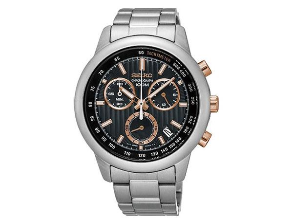 セイコー SEIKO 逆輸入 クロノグラフ メンズ 腕時計 SSB215P1 メタルベルト-1