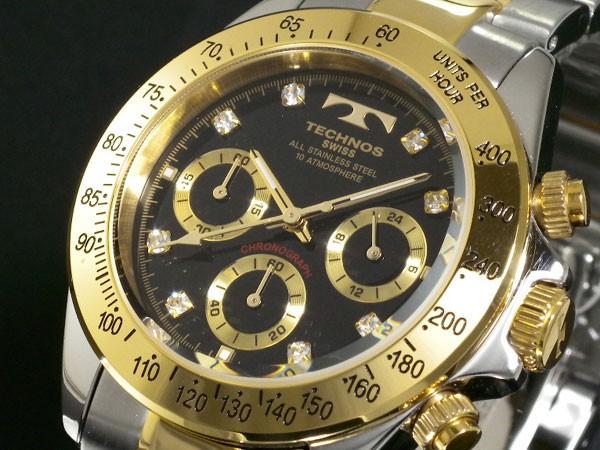 テクノス TECHNOS 腕時計 メンズ TGM640TB クロノグラフ クオーツ-1