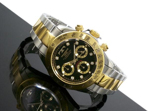 テクノス TECHNOS 腕時計 メンズ TGM640TB クロノグラフ クオーツ-2