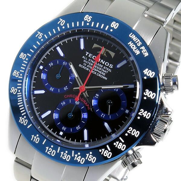 テクノス TECHNOS 腕時計 メンズ TSM401SN クロノグラフ-1