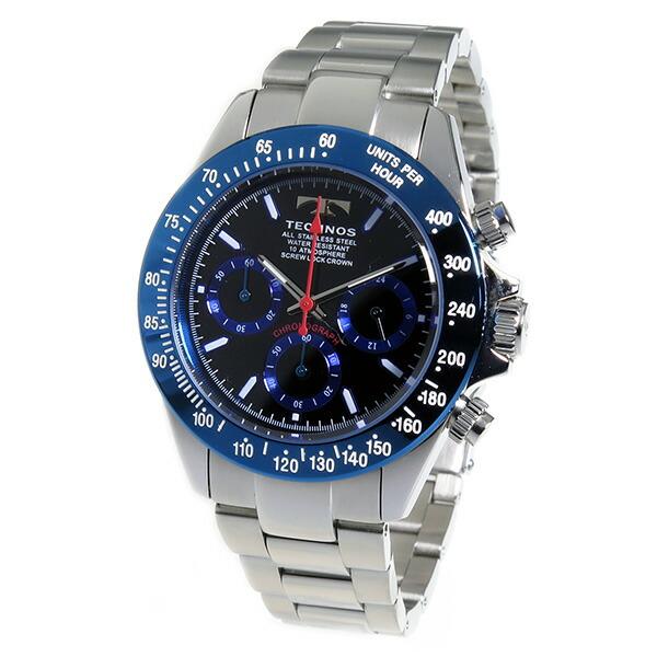 テクノス TECHNOS 腕時計 メンズ TSM401SN クロノグラフ-2