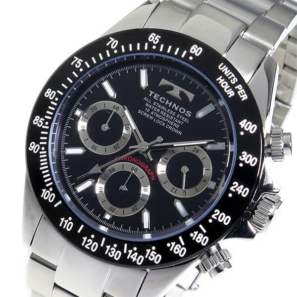 テクノス TECHNOS 腕時計 メンズ TSM401TB クロノグラフ-1