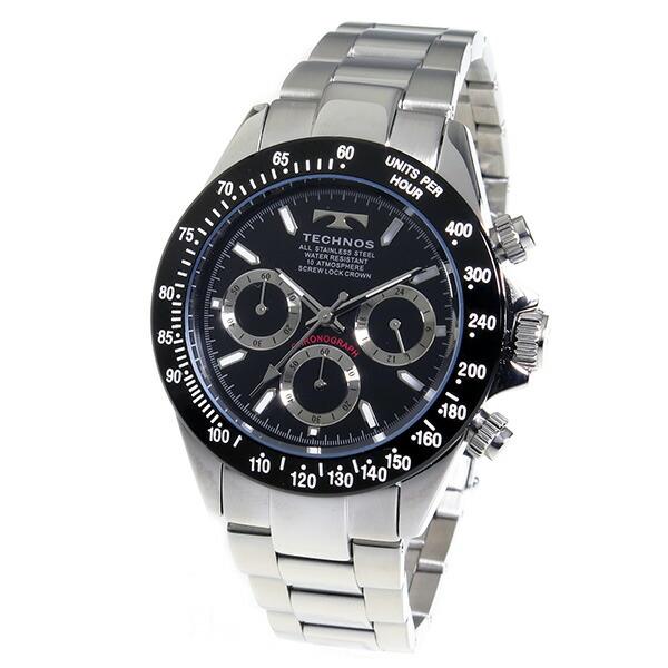 テクノス TECHNOS 腕時計 メンズ TSM401TB クロノグラフ-2