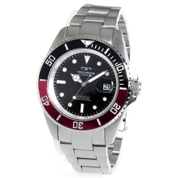 テクノス TECHNOS 腕時計 メンズ TSM402SH ダイバー デザイン-2
