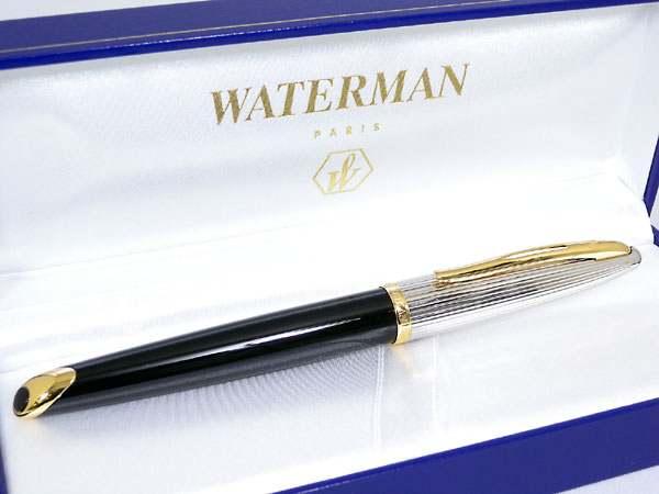 WATERMAN ウォーターマン カレン・デラックス ブラック&シルバーGT 万年筆 M(中字) S2228143-1