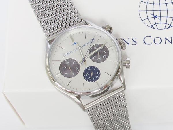 トランスコンチネンツ TRANS CONTINENTS 腕時計 メンズ 40mm TC-HE-002-1