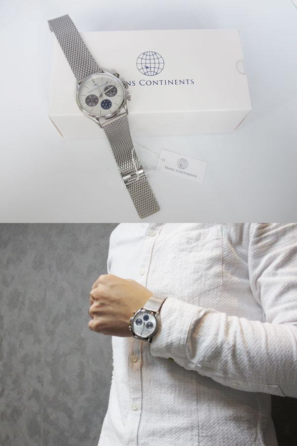トランスコンチネンツ TRANS CONTINENTS 腕時計 メンズ 40mm TC-HE-002-2