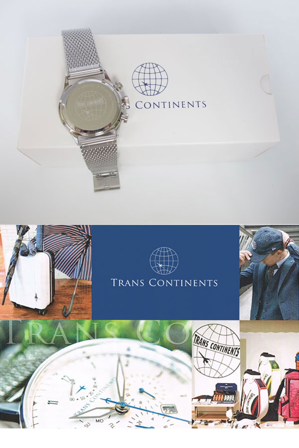 トランスコンチネンツ TRANS CONTINENTS 腕時計 メンズ 40mm TC-HE-002-3