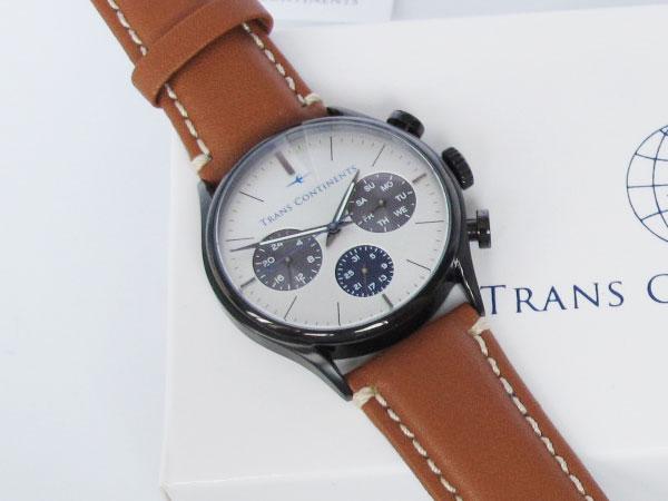 トランスコンチネンツ TRANS CONTINENTS 腕時計 メンズ 40mm TC-HE-006-1
