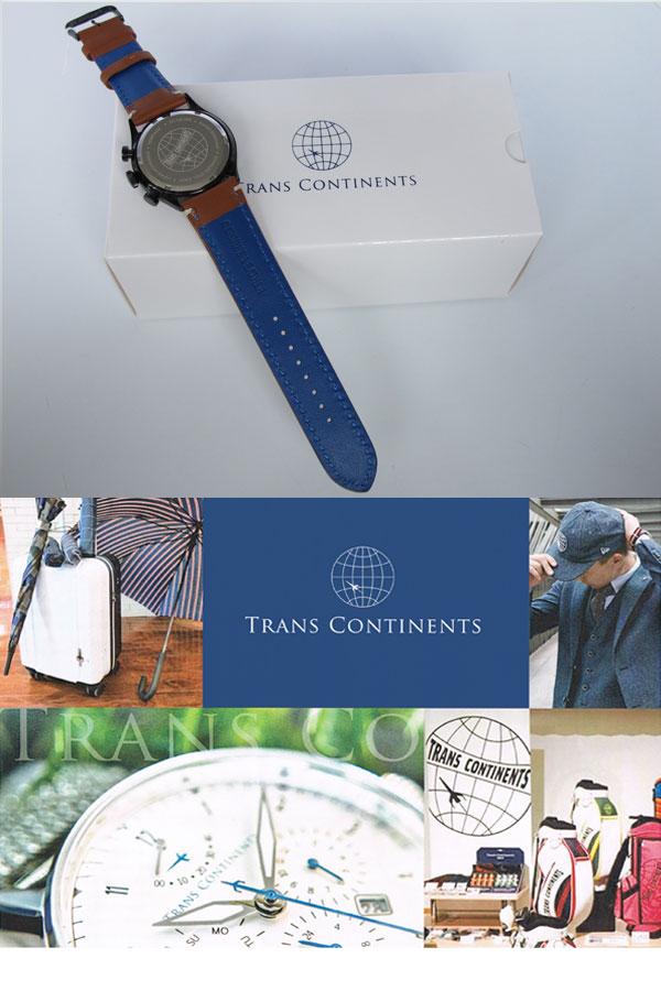 トランスコンチネンツ TRANS CONTINENTS 腕時計 メンズ 40mm TC-HE-006-3