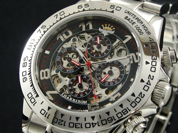 ジョンハリソン JOHN HARRISON フルスケルトン 自動巻き 腕時計 JH003-RB-1