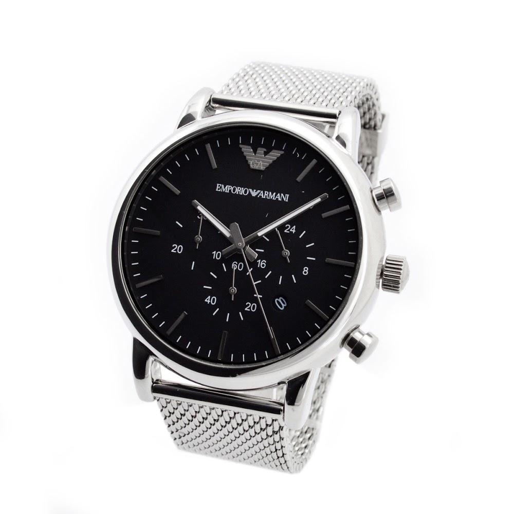 エンポリオ アルマーニ ルイージ クオーツ クロノ メンズ 腕時計 AR1808-1