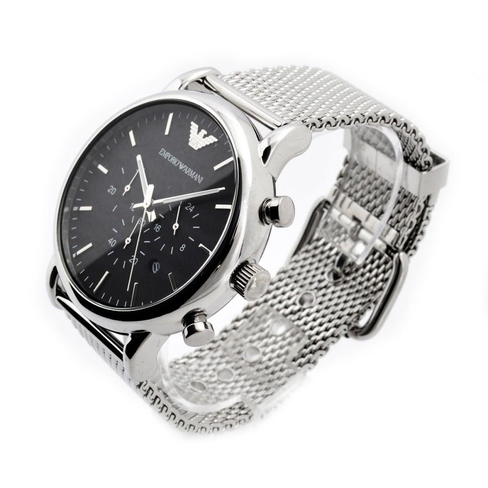 エンポリオ アルマーニ ルイージ クオーツ クロノ メンズ 腕時計 AR1808-2