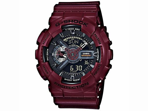 カシオ Gショック G-SHOCK ボルドーカラー メンズ 腕時計 GA-110EW-4AJF 国内正規品-1