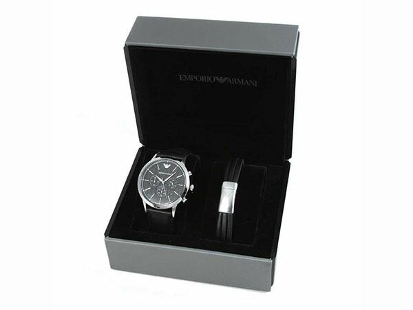 エンポリオ アルマーニ ARMANI 腕時計 ブレスレット セット メンズ AR8034-2